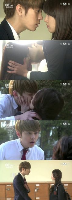 [SPOILERS] Junhyung participates in two kiss scenes for his drama debut