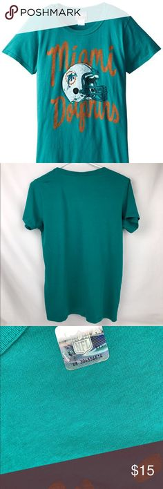 Miami Dolphins Junk Food Tee Brand New Officially Licensed with tags. This Tee is perfect for any Dolphins fan. Super soft 100% cotton made by Junk Food. (L)883491369876 Junk Food Clothing Tops Tees - Short Sleeve
