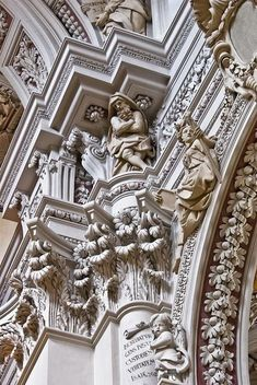 Baroque Architecture- the sheer excess Baroque Architecture, Classical Architecture, Ancient Architecture, Beautiful Architecture, Beautiful Buildings, Architecture Details, Interior Architecture, Interior Design, Art Sculpture