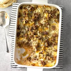 Breakfast Relleno Recipe -My family loves anything with a Southwest flavor, so I turned classic chiles relleno into a breakfast casserole and they became fans in an instant. Baked Breakfast Recipes, Slow Cooker Breakfast, Breakfast Bake, Breakfast For Dinner, Breakfast Dishes, Brunch Recipes, Breakfast Ideas, Brunch Ideas, Brunch Dishes