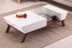 Image result for glass coffee table with storage