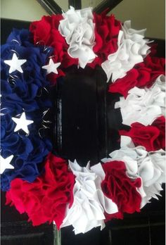 Independence Day wreath. July 4th. Stars and stripes.