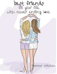 Best friends illustration love