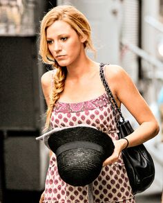 Blake Lively's casual side-braid