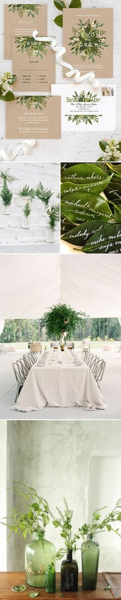 "Wedding Inspiration: Pantone's Color of the Year ""Greenery"""