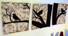 Birds and sheet music picture Music Party Decorations, Sheet Music Crafts, Sun Music, Violin Music, Music Backgrounds, Arts And Crafts, Diy Crafts, Music Wall, Music Pictures
