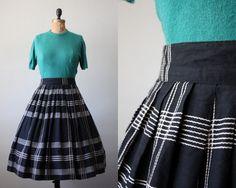 1950s geometric circle skirt