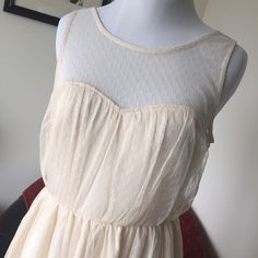 Urban outfitters lace overlay dress Pretty cream color lace overlay dress by Pins and Needles. Size 6. Pins & Needles Dresses