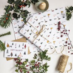 The Best Eco-Friendly Wrapping Paper — Desert Hue Print Wrapping Paper, Wrapping Paper Design, Wrapping Ideas, Pug Christmas, Christmas Design, Gold Christmas Decorations, Christmas Wrapping, Gift Wrapper, Stationary Gifts