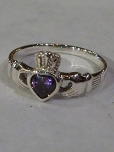 Claddagh ring amethyst