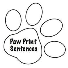 Crazy Speech World: Paw Print Sentences Freebie