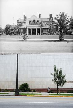 "The Otis House, 2401 Wilshire Boulevard, c.1900-2011 Nicknamed ""The Bivouac"", it was designed by John Kremple for General Harrison Grey Otis, publisher and editor for the Los Angeles Times in 1898. In 1918 it became the Otis Art Institute, which remained on the land until 1997. The house itself was demolished in 1954."