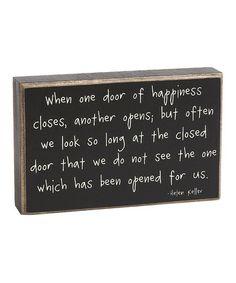 'One Door Closes' Box Sign