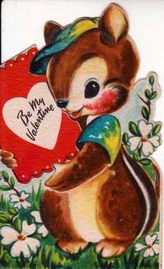 Vintage 1947 Hallmark Be My Valentine by poshtottydesignz on Etsy,