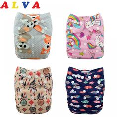 Littles /& Bloomz Without Insert Reusable Pocket Cloth Nappy Pattern 63 Set of 1 Fastener: Popper