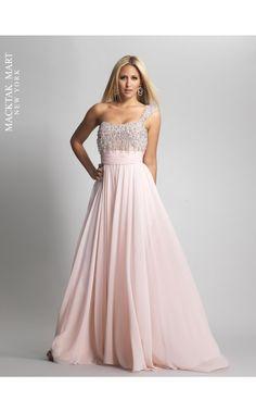Dave 8594 one shoulder light pink ivory dress #prom