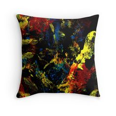 Abstract colorful Throw Pillow.