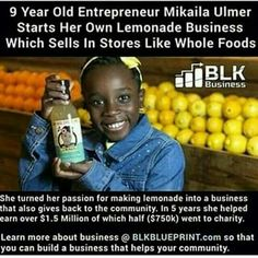 "She's a social entrepreneur, public speaker, philanthropist and a savvy 6th-grader from Austin, Texas whose signature venture, ""Me & The Bees"" lemonade — developed from her great-grandmother's 1940 recipe — is now a thriving national business."