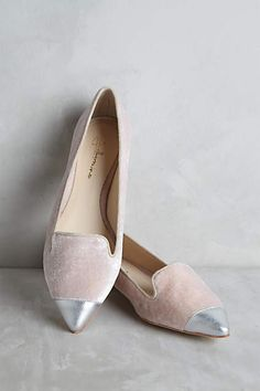 Guilhermina Velvet Smoking Slippers - anthropologie.com Stunning! Pair with skinny jeans, classic white t and buttery solft leather jacket. Perfection