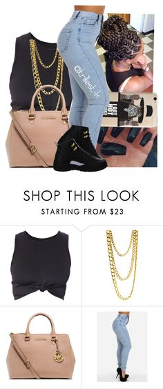"""""""like ya boy from Compton said, """"ya know this d*ck ain't free"""""""" by trillest-k ❤ liked on Polyvore featuring MICHAEL Michael Kors and NIKE"""
