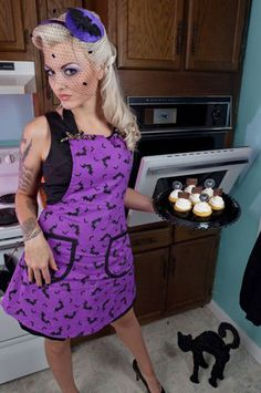 Bella Apron - Halloween Bats about You