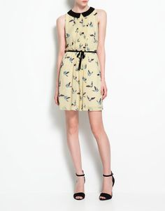 my new bird print dress from Zara's in vancouver. can't wait to wear it! spring/summer get here already!
