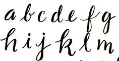 Practice your hand lettering with these alphabet reference sheets!