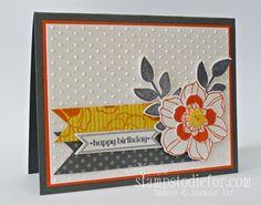 Secret Garden Stampin Up Stamp set, Birthday Card my Friend Sue made