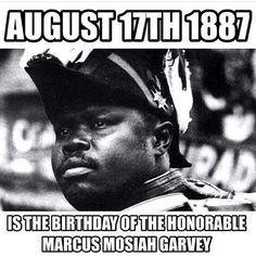 #MarcusGarvey Celebrate His Spirit!  Marcus Mosiah Garvey, Jr (17 August 1887 – 10 June 1940),was a #Jamaican political leader, publisher, journalist, entrepreneur, and orator who was a staunch proponent of the Black Nationalism and #Pan-Africanism movements, to which end he founded the Universal Negro Improvement Association and African Communities League (UNIA-ACL).[2] He founded the Black Star Line, which promoted the return of the African diaspora to their ancestral lands.