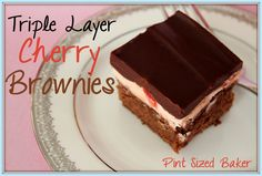 Pint Sized Baker: Triple Layer Cherry Brownies