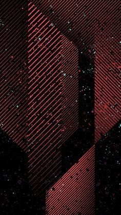 Dark Art Minimal Pattern Red #iPhone #6 #wallpaper