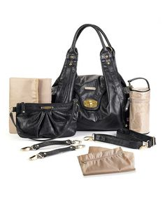 Look what I found on #zulily! Black Annette Diaper Bag by timi & leslie #zulilyfinds