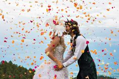 A Bohemian Mountain Wedding in Boulder (image by James Moro Photography).