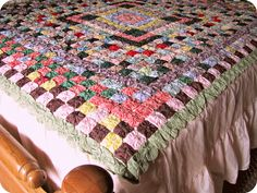 Yoyo Quilt Antique Coverlet Suffolk Puffs Marghuerites Rosettes Full Size Vintage Heirloom Bedding. $625.00, via Etsy.