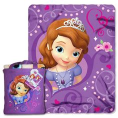 Sofia The First- Royalty Awaits Silk Touch Throw (40x 50) with Tote