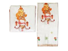 Buy Wedding Ganesha Handshake Antarpat online  from the best online store from India to across the worldwide. Ganesh swastik antarpat in used in Marraige ceremony. Antarpat is the cloth that is held in front of the groom in the Hindu wedding ceremony before the bride walks into the Mandap