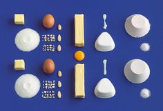 """""""Sweden's Forsman & Bodenfors (F&B) designed the 'best-baking book' for IKEA, encouraging homemade baked goods    as a means of generating interest in kitchens.  all of the ingredients required for each recipe are laid out on each page, the individual components of constructing a metaphoric visual of the required components needed."""""""