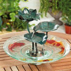Evergreen Flag & Garden Glass and Metal Tabletop Fountain