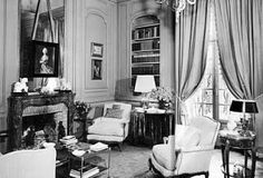 La Fiorentina --  A view of the library as decorated by Rory Cameron.  The Art of the Room - In Search of the Sublime in Design: Riviera Style