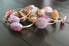 The White Chandelier - Bourbon and Boweties Marble Fuschia Bangle, $32.00 (http://www.thewhitechandelier.com/bourbon-and-boweties-marble-fuschia-bangle/)