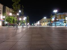 slavonski brod- city square by night