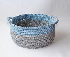 RoomStyle Kosz Koszyk Bawełniany Knit Zpagetti - RoomStyle - Kosze z tkaniny