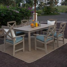 Cambridge Casual Porto 7 Piece Dining Set | Wayfair