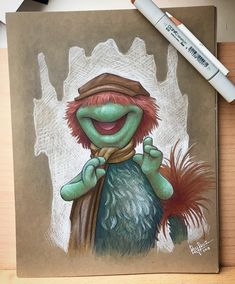 """552 Likes, 41 Comments - Rey Paez (@reypaezart) on Instagram: """"Fun sketch of Boober fraggle. @carriejc1983 • • • • • #fragglerock #prismacolor #copicmarkers…"""""""