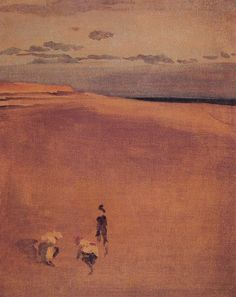 James Abbott McNeill Whistler - 1865 - oil on canvas. The beach at Selsey Bill