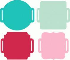 Silhouette Online Store - View Design #53795: 4 ribbon slide labels
