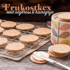 Enkla baskex som passar både till frukost och till ostbrickan Crackers, Biscuits, Bread, Homemade, Snacks, Cookies, Desserts, Food, Iceland