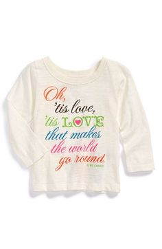 Peek 'Tis Love that Makes the World Go Round' Graphic Tee (Toddler Girls, Little Girls & Big Girls) available at #Nordstrom