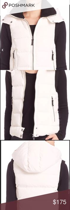 Joie Orson Quilted Puffer Vest, Size Large. Joie Orson Quilted Puffer Vest ***RETAIL PRICE $368 Joie channel-quilted puffer vest.  -Faux Fur.  -Fill: 70% down, 30 % feather.  -Collar: Black, 100% polyester.  -Trim: 70% acrylic, 30% wool.  -Shell and Lining: 100% nylon. -Machine wash. -Imported; made in China. Joie Jackets & Coats Vests