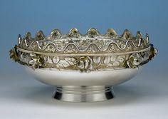 Gorham 'Eglantine' Pattern Antique Sterling Silver 'Montieth' Style Centerpiece Bowl, 1880